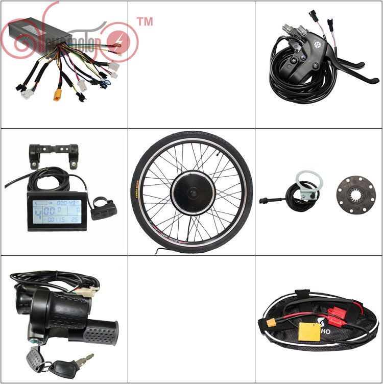 Free Shipping ConhisMotor 36V 48V 500W Ebike Motor Wheel Kits 7 Speed Gear With Controller LCD3 PAS For Electric Bicycle sale free tax conhismotor 36v 1200w 48v 1500w 26 rear wheel ebike conversion kits for electric bicycle eu free shipping