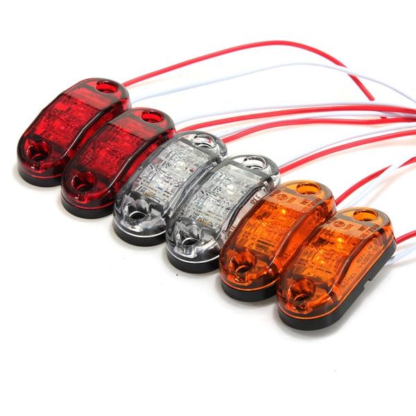 Самая низкая цена 1 шт белый /красный /Янтарный боковые Габаритные свет для грузовых автомобилей, прицепы габаритный фонарь 12В/24В