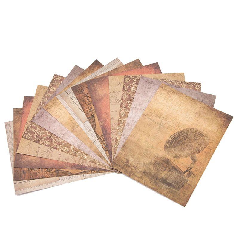 14 pièces rétro motif fond papier bricolage artisanat Photo Album Scrapbooking carte décor à la main