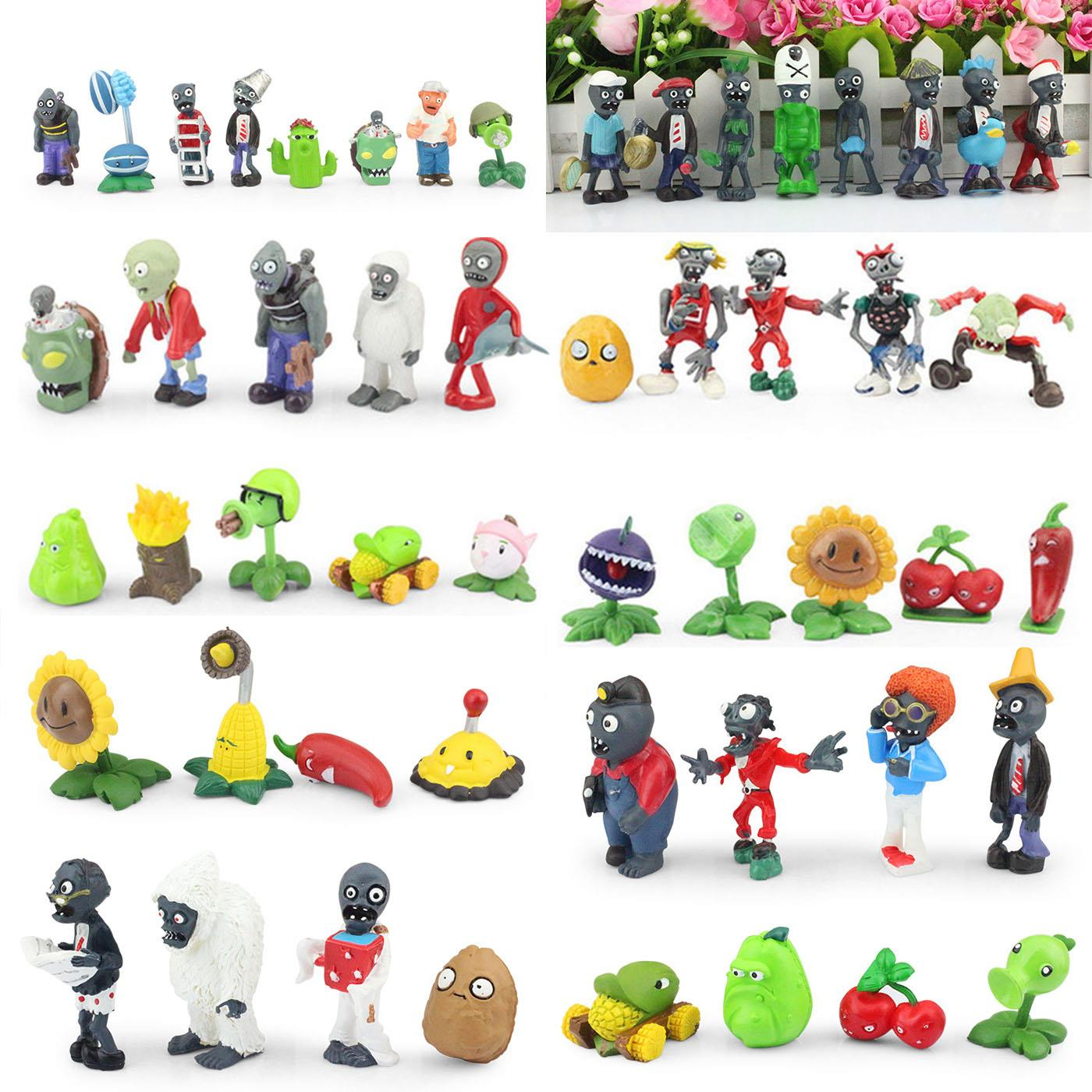 52pcs/set Plants VS Zombies PVZ Collection Figures Toy all the Plants and zombies figure Toys Free Shipping 6pcs plants vs zombies plush toys 30cm plush game toy for children birthday gift