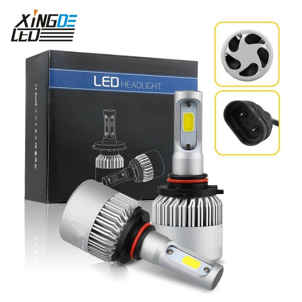 <font><b>Car</b></font> <font><b>LED</b></font> Headlight H7 H4 <font><b>LED</b></font> HB3/9005 HB4/9006 H8/H11 H1 H3 9012 6000K Auto Head <font><b>Light</b></font> Bulb