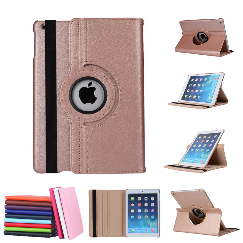 buy rose gold 360 rotating protective case for apple ipad pro 9 7 luxury pu. Black Bedroom Furniture Sets. Home Design Ideas