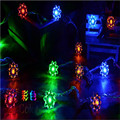 Fairy 5m 28LED lotus flowers Led string garland light Christmas New year Wedding Holiday Party home luminaria decoration lamp