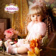 Muñeca Reborn de silicona de 60cm, princesa para bebés pequeños como juguete de vinilo de bebé vivo, colección limitada, regalo de cumpleaños
