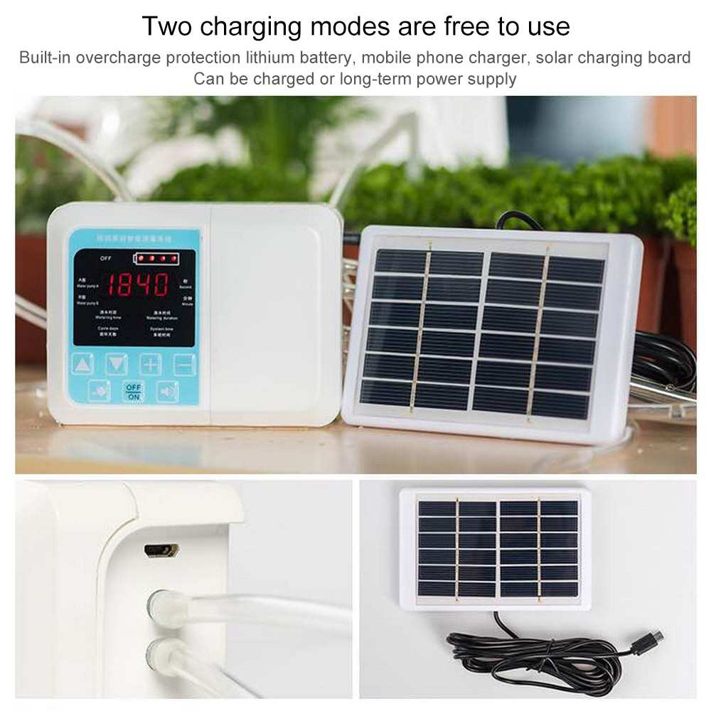 Drip Irrigation Solar Irrigation System Energy Three Outlets Timed Automatic Watering Device Plant Miniature Diaphragm Pump