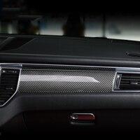 7 шт. углерода Волокно автомобиля Салонные аксессуары для порш Макан 2014 2015 2016 2017 стайлинга автомобилей