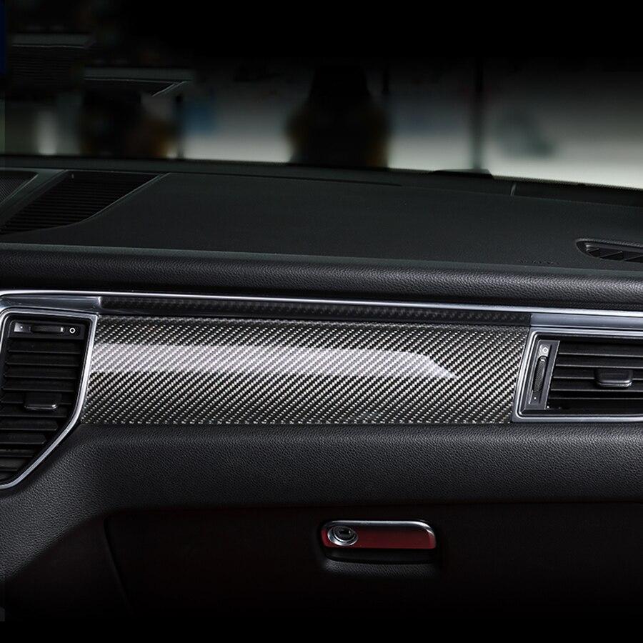 7pcs carbon fiber car interior accessories for porsche macan 2014