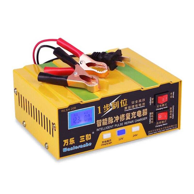 110 v/220 v Impulso Intelligente Riparazione Caricabatterie da Auto 12 V 24 V Auto Moto Al Piombo 12 V Veicoli Elettrici Batterie Al Litio