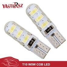 Yastarsz 1 шт. водонепроницаемый T10 Светодиодные лампы W5W 5630 6LED светодиодные CANBUS 6smd 5730 T10 силиконовые W5W поворотов Обратный лицензии