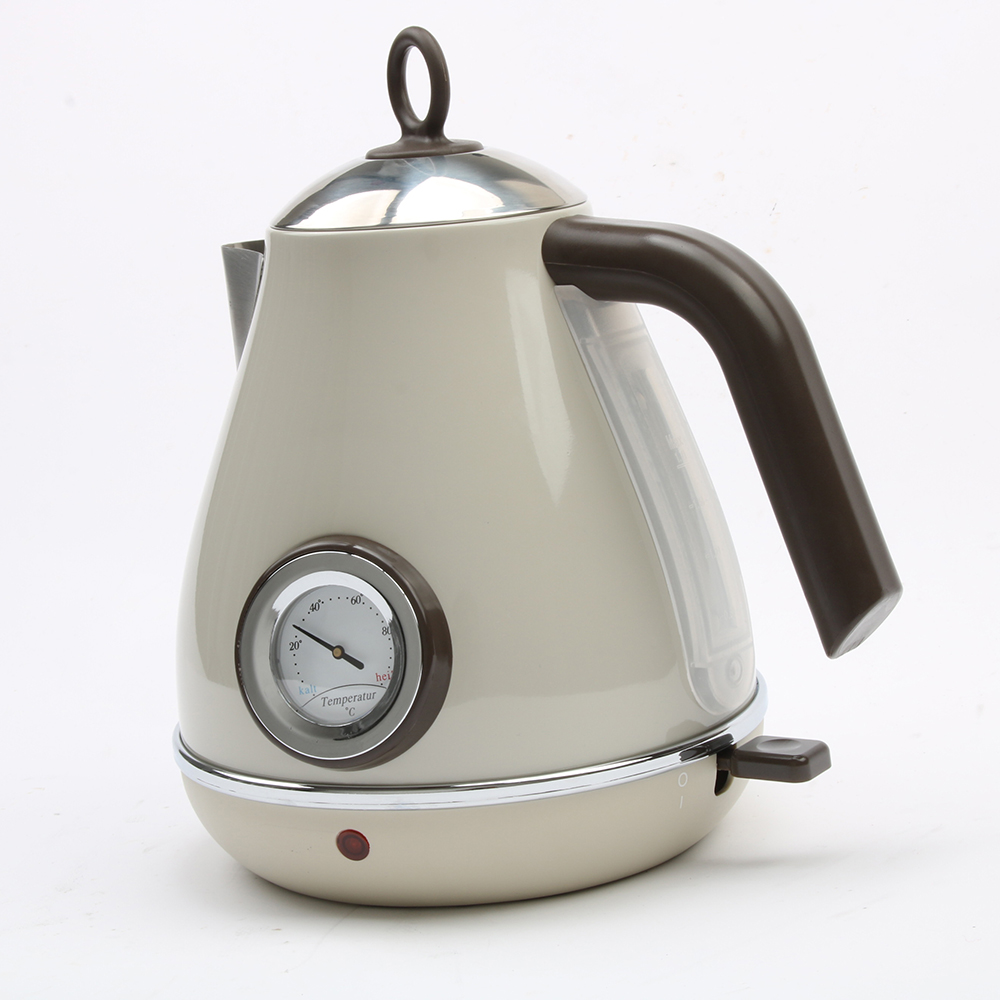 DMWD 1850W 220V Retro 304 Stainless Steel Electric Kettle 1.7L Thermometer Water Boiler Coffee Pot Automatic Power Off