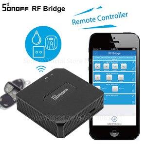 Image 1 - Sonoff interruptor wifi automação residencial, rf bridge, wifi 433 mhz, interruptor universal para automação residencial, controle remoto