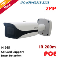 Dahua POE Водонепроницаемый IP Камера IPC HFW5231E Z12E 2MP WDR IR пуля сети Камера IR 200 м 5,3 мм 64 мм 12x зум объектив камеры безопасности