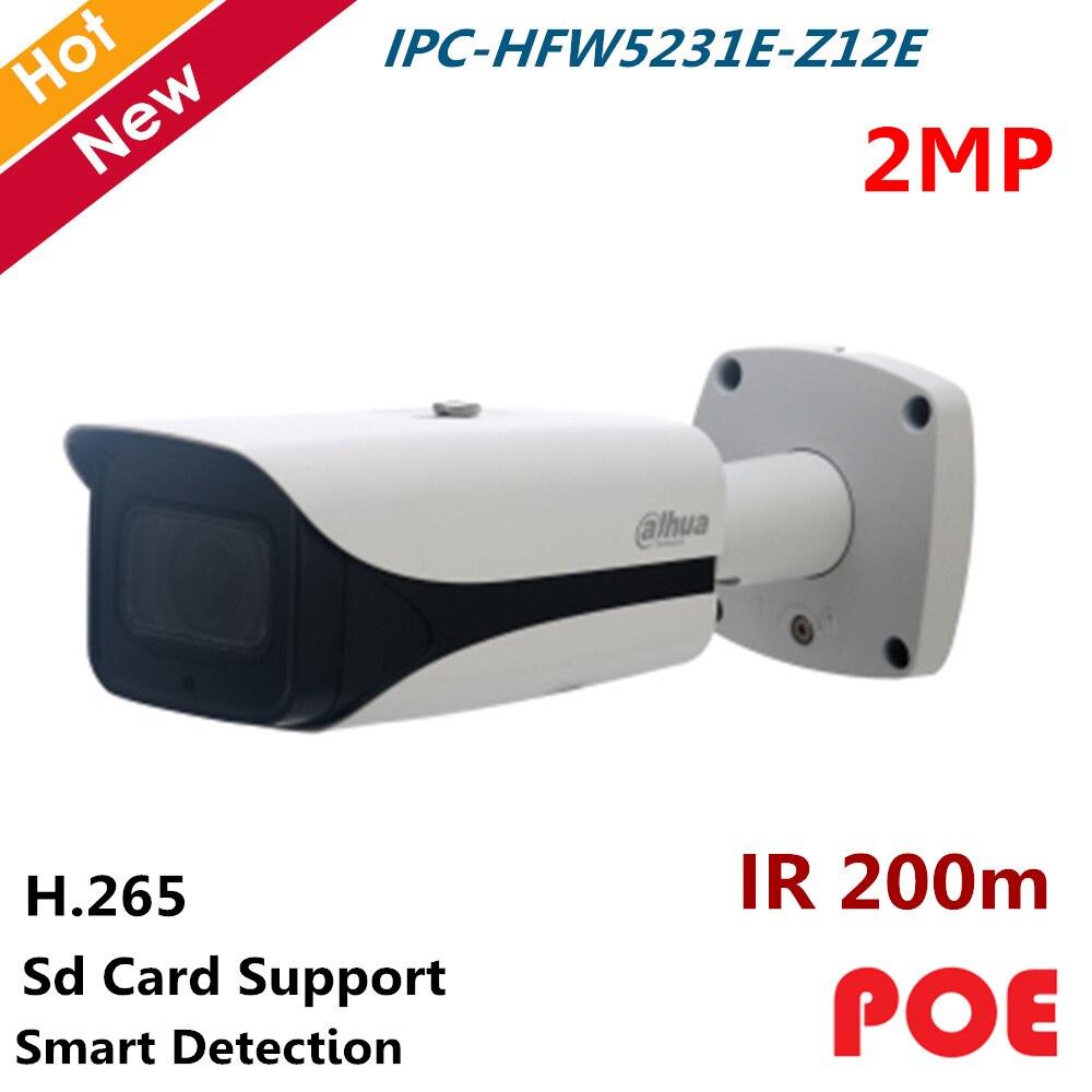 Dahua POE Waterproof IP Camera IPC HFW5231E Z12E 2MP WDR IR Bullet Network Camera IR 200m 5.3mm 64mm 12x zoom lens Security cam