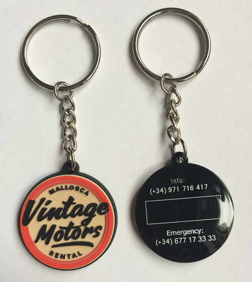 Company logo PVC Keychains Promotional Keyrings Rubber Key Tag Customized Logo For Both Side chaveiros personalizado
