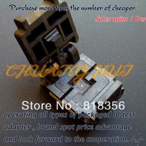 QFN32 test socket MLF32 DFN32 WSON32 socket 32QN50S15050-E socket Pitch=0.5mm size=5mm*5mm