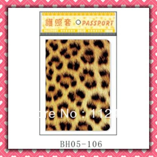 Free Shipping Leopard passport holders 100pcs/lot passport covers Card holders