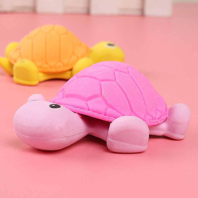 1x Kawai черепаха прелестный с изображением животного из мультфильма ластик/съемный студент подарок школьные награды игрушки офисные канцелярские ластик
