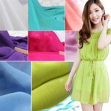 Coloful Chiffon fabric Soft for dress lining cloth 100 150cm material 100d Georgette fabrics DIY for