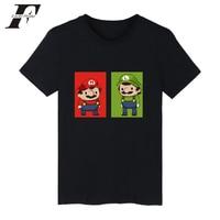 2017 Super MarioRun Fitness Anime T Shirt Men Women Hip Hop Short Sleeve Funny T Shirts