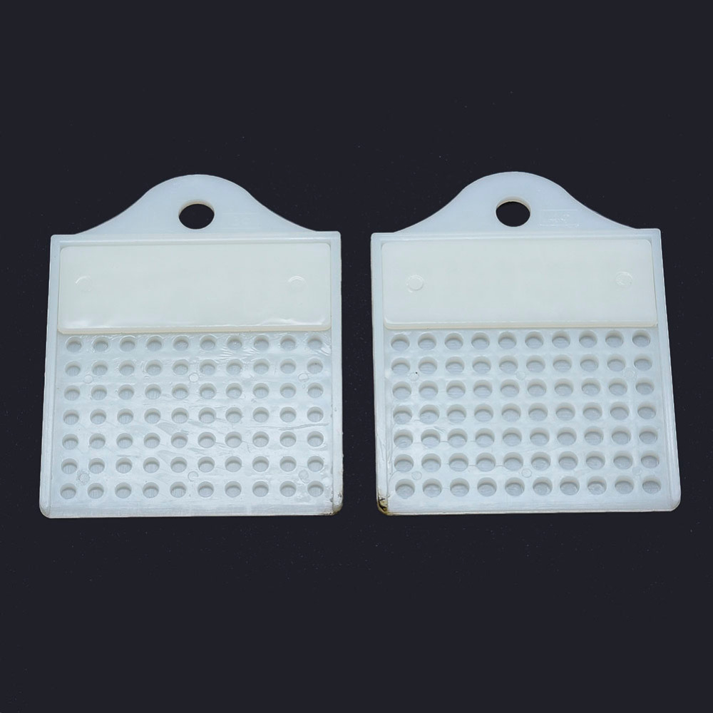 2pcs/set 100 Grids White Plastic Bead Counter Boards For 3mm 4mm (ss12-ss16) Beads Rhinestone Beading Supplies Measuring Tools