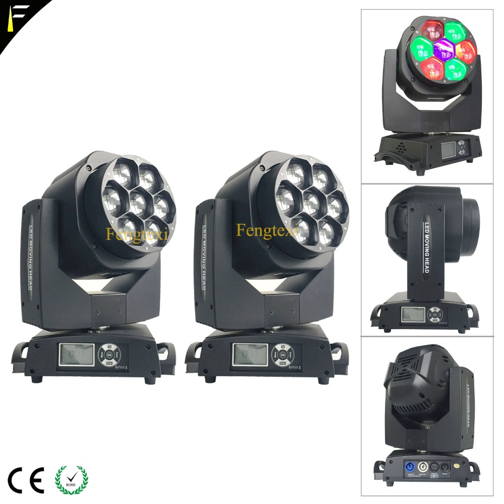 DJs Disco Stage Light Strong Power 7*15w RGBW 4in1 Strobe Wash Moving Head Light 4-60 Degree Zoom Beam LED Individually ControlDJs Disco Stage Light Strong Power 7*15w RGBW 4in1 Strobe Wash Moving Head Light 4-60 Degree Zoom Beam LED Individually Control