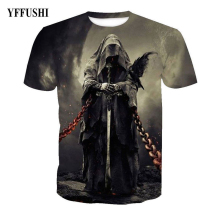 YFFUSHI 2019 Male/Female 3d t shirt Men Fashion 3D Graphic Print Summer T shirt  Evil Ghost 3d Print Hip Hop Tees Plus Size 5XL