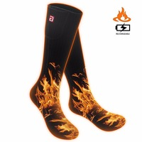 SVPRO Smart Electric Heated Socks Men 3 7V Cold Winter Warm Skiing Socks Rechargeable Battery Heating