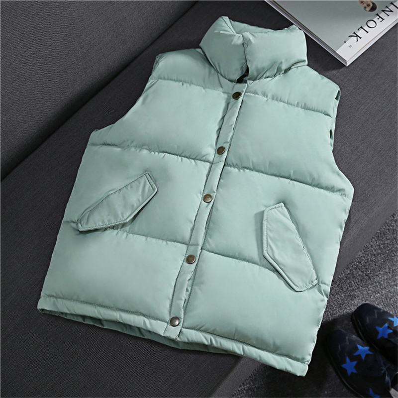 Section Col pink Coton Solide De army Coréenne Version Black Green Nouvelle D'hiver Gilet A848 Courte Femmes La gray white Et Niceautumn blue Hp8vOO