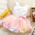 Summer petal baby dress kids wear girls Princess little dress 1 year birthday flower girl dress for wedding party toddler outfit