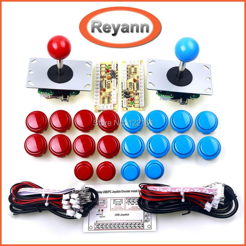Arcade Joystick DIY Kit Zero Delay USB Controller PC to Arcade Joystick Push Buttons Wire Harness aliexpress com buy arcade joystick diy kit zero delay usb  at crackthecode.co