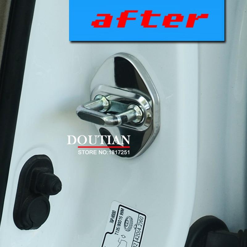 NEW 3D Stainless Steel Kunci Pintu Gesper Perlindungan Pelindung - Suku cadang mobil - Foto 5