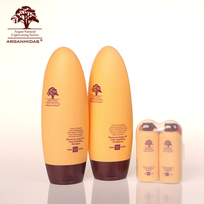 Argan Oil Nourishing Hair Shampoo +hair conditioner+mini hair shampoo and conditioner Hair Care product d angello morocco argan oil scalp for frizzy dry hair keratin repair treatment hair care keratin hair split ends conditioner
