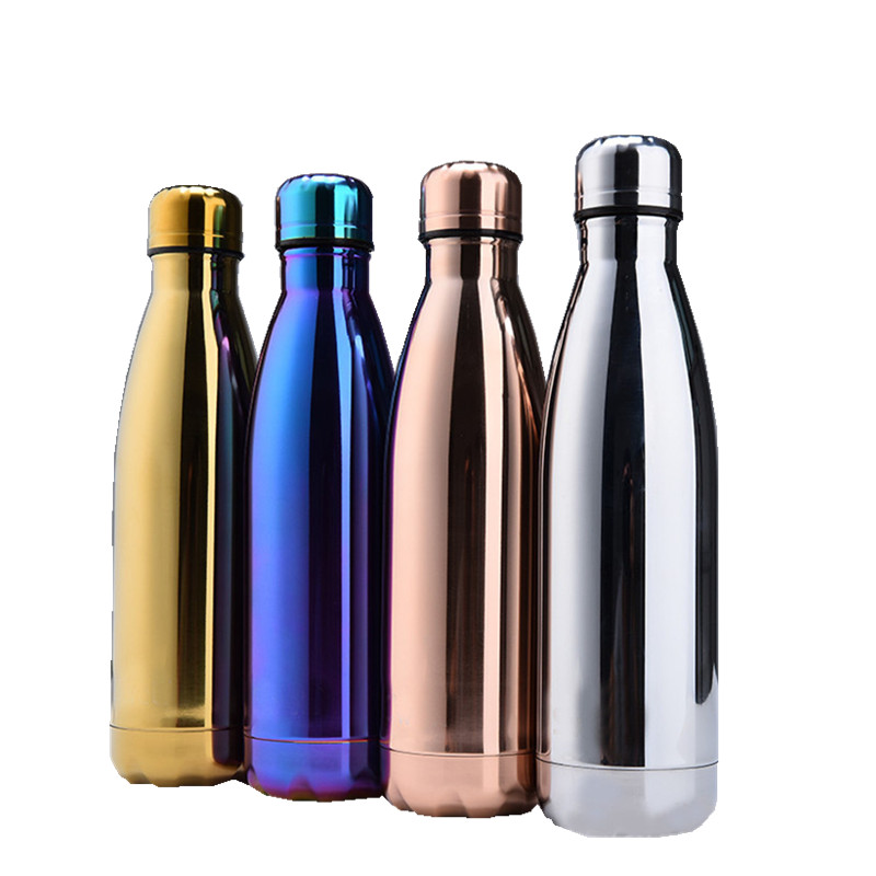 bpa free coffee mug vacuum cup double wall stainless steel electroplate thermos bottle with lid. Black Bedroom Furniture Sets. Home Design Ideas