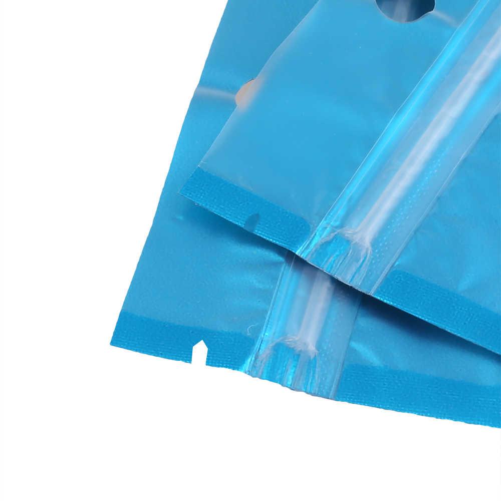 Оптовая продажа 100 шт. Прозрачный матовый синий стерилизационные упаковки плоский посылка сумка Алюминий полиэтилентерифталатное покрытие Пластик сумка на молнии сумки