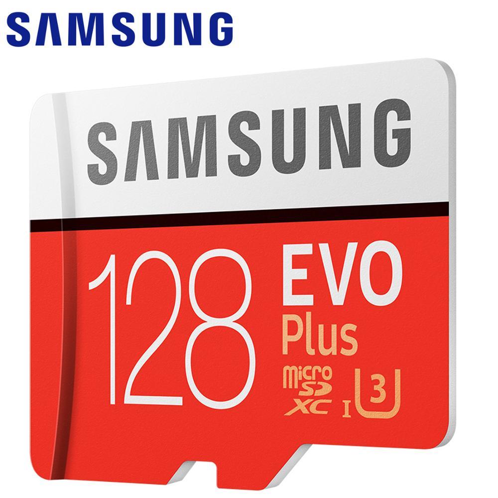 SAMSUNG EVO PLUS Memory Card 128gb 100 MB/S Micro SD Class 10 U3 TF Flash Cards UHS-I 256gb 64gb 32gb Micro SD Card For Go Pro