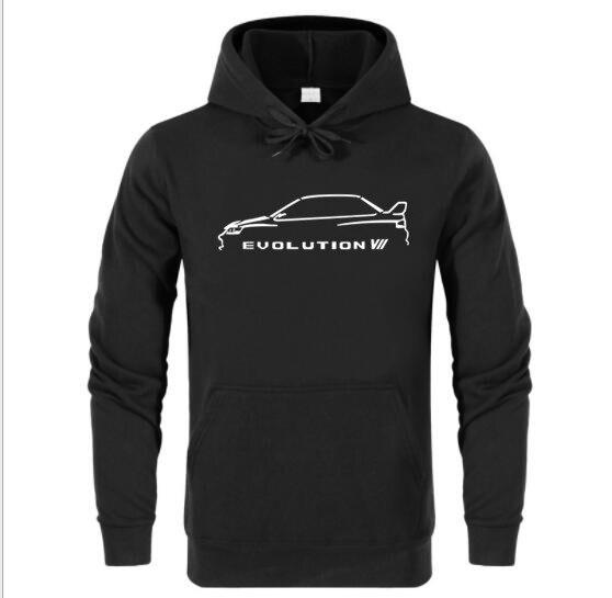 Mitsubishi Evo 10 Arrière Logo Zip Through Hoody Sweat à capuche Haut à Capuche