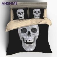 AHSNME Super Horror Diamond 3D Skull Duvet Cover Set US EU AU Double Queen King 2