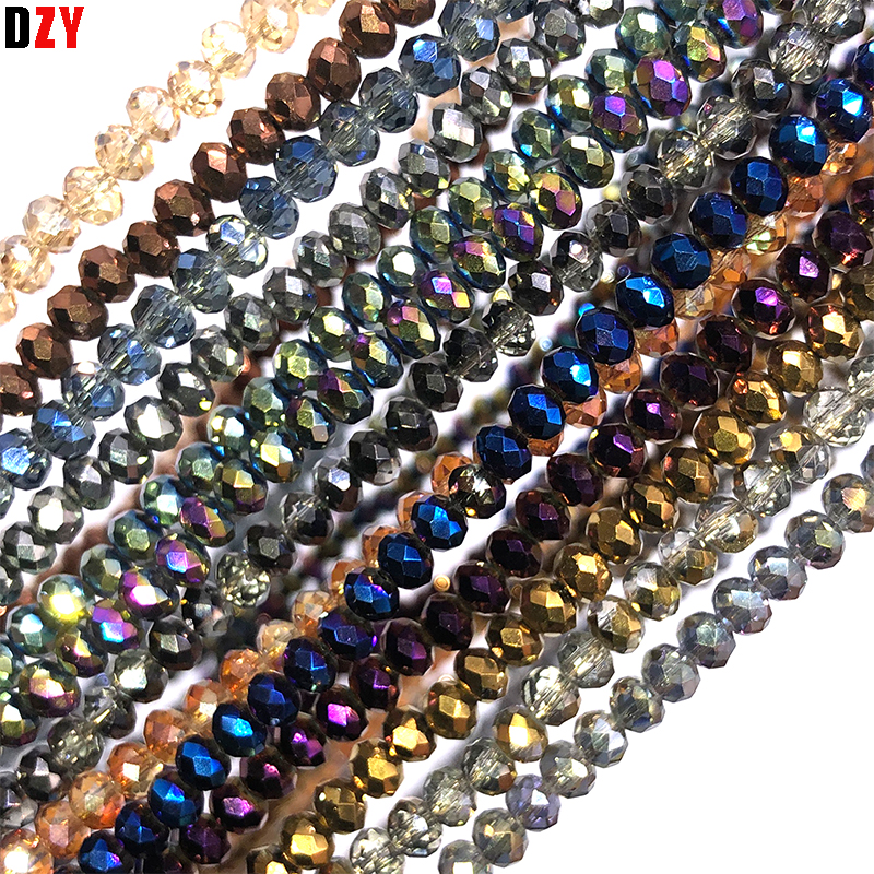 Beads & Jewelry Making Shining Blue 4mm Czech Faceted Crystal Football Beads Color Glass Round Crafts Beads For Jewelry Making 145pcs Lot Wholesale Jewelry & Accessories