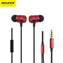 Awei Wired In Ear Headphone In-Ear Earphone For Phone iPhone Samsung Head Headset Earpiece Earbud Sluchatka Auriculares Kulakl K