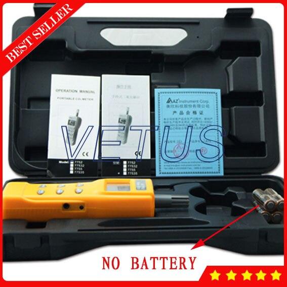 AZ7752 AZ-7752 Handheld carbon dioxide tester CO2 gas alarm detector with temperature measurement