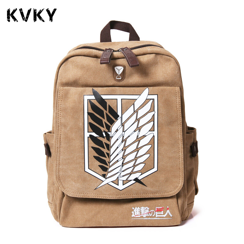 Anime Attack On Titan Pringting Backpack For Teenagers Boys Girls Cute Mikasa Ackerman School Bags Student Backpacks