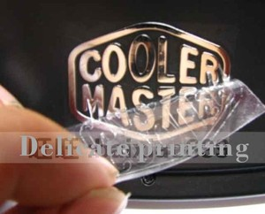 Image 1 - 除去できないカスタムメイドロゴステッカー4.5*1.5センチ金属ロゴステッカーブランドロゴステッカーラベルステッカー