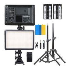 Nouveau Godox 2 * LED308W Dimmable lumière LED Pro photographie Studio Vidéo LED + 2 * Lumière Stand + 2 * NP-F550 Batterie + Chargeur kit