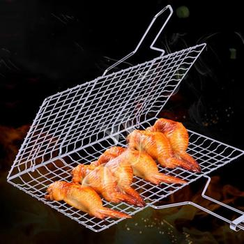 Non-stick Barbecue Rack Barbecue Meshes Outdoor Camping Grill Rack BBQ Clip Folder Grill Roast Meat Fish Folder Basket BBQ Tools abrazaderas para asar carne