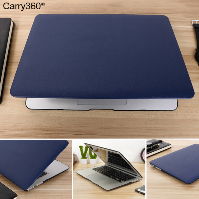 Carry360 PU Leather For Apple Mac book Air Pro Retina 11 12 13.3 15 inch Laptop Bag for MacBook Air 13 With Touch Bar A1932 Case