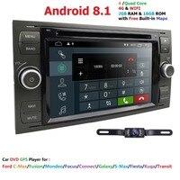 2din Android 8,1 DAB + автомобильный DVD gps в тире для Ford Transit Focus подключение S MAX Kuga Mondeo с четырехъядерным Wifi 4G gps Bluetooth