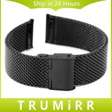22mm de acero inoxidable correa de smart watch band correa para moto 360 2 segundo 46mm 2015 samsung galaxy gear 2 r380 neo r381 vivo r382