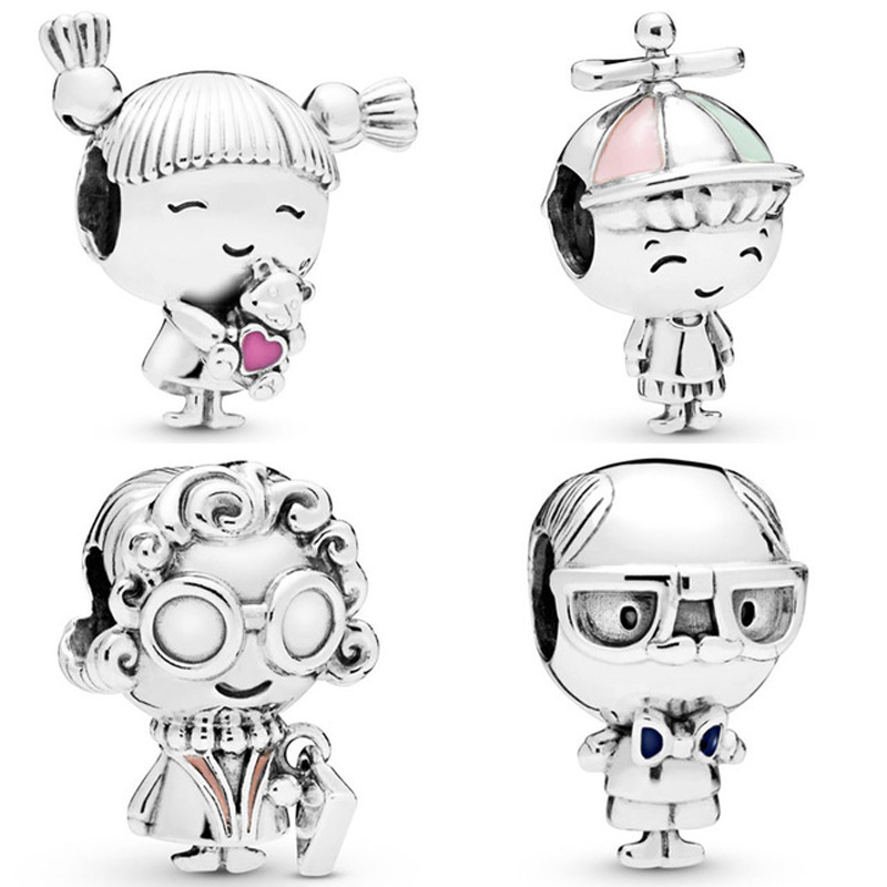 Free Shipping 925 Sterling Silver Beads Pigtails Girl Propeller Hat Boy Grandma Grandpa Charm Fit Pandora Bracelet Diy Jewelry Buy At The Price Of 3 05 In Aliexpress Com Imall Com