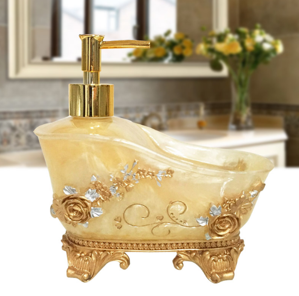 European Style Home Hotel Liquid Soap Dispensers Pump Shower Shampoo Bottle Hand Sanitizer Container Bathroom Accessories LF275