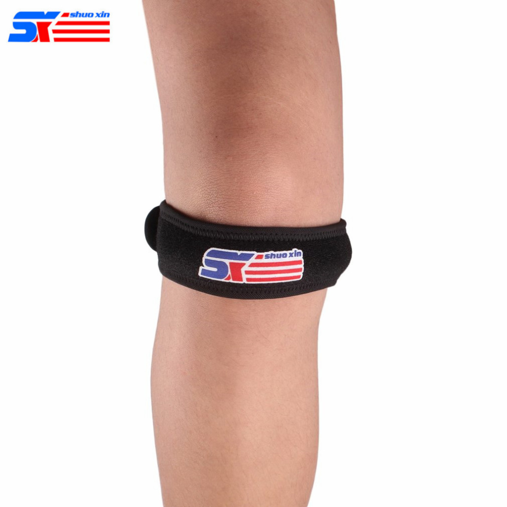 ShuoXin 1Pc SX622 Silicone Adjustable Sport Patella Band Knee Support Guard Sport Safety Patellar Belt Knee Protective Brace New